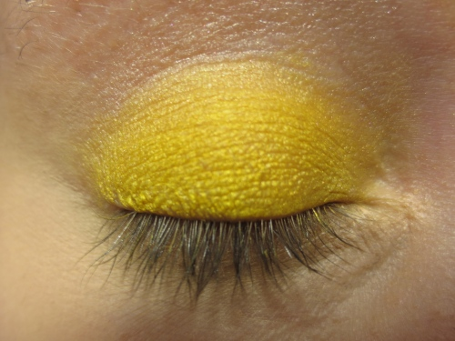 Aqua Cream with Yellow Powder Shadow